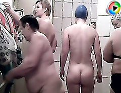 Cute fatties becomes stars of shower voyeur video