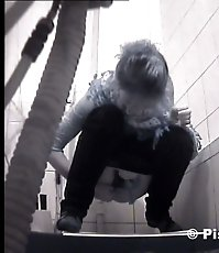 Two chicks get unlucky to pee in spycammed loo