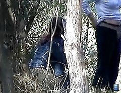An outdoor voyeur pissing scene on video
