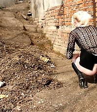 Unsuspecting babes get photographed peeing outdoors