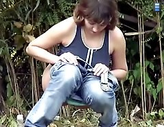 Outdoor voyeur movies of real women having a leak
