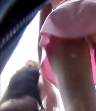 Apple cheeked ass voyeur upskirt